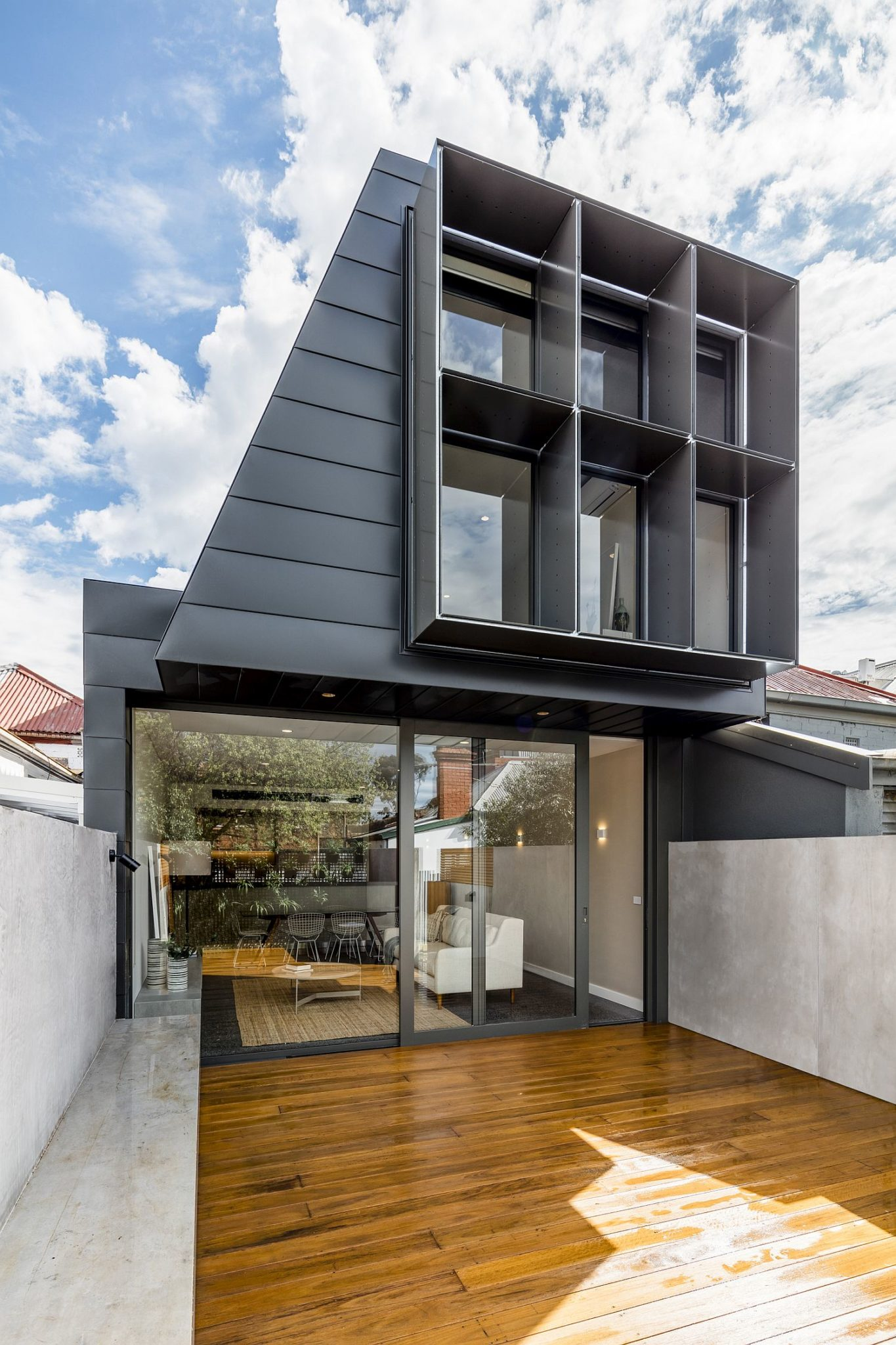 Contemporary avatar of terrace home in melbourne flooded for House and terrace