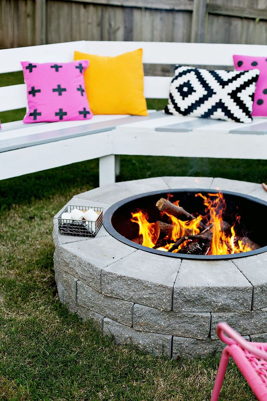 Cozy backyard firepit DIY