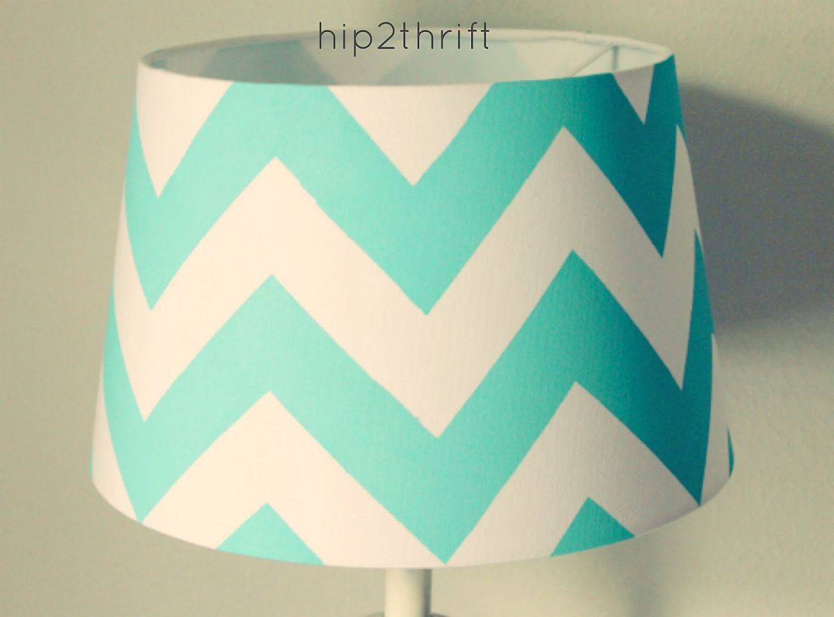 Craft cool chevron lamp DIY