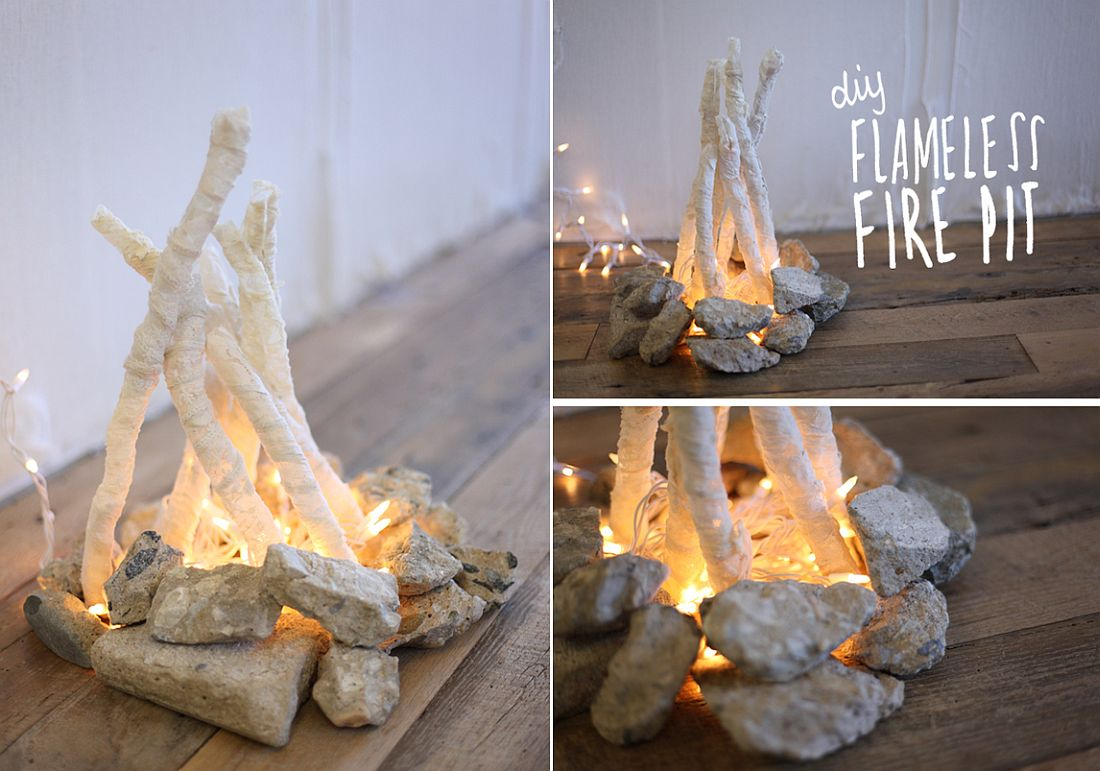 DIY flameless fire pit is an absolute delight