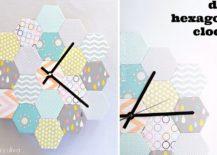DIY-hexagon-clock-217x155