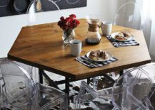 DIY-hexagon-dining-table-with-industrial-style-legs-217x155