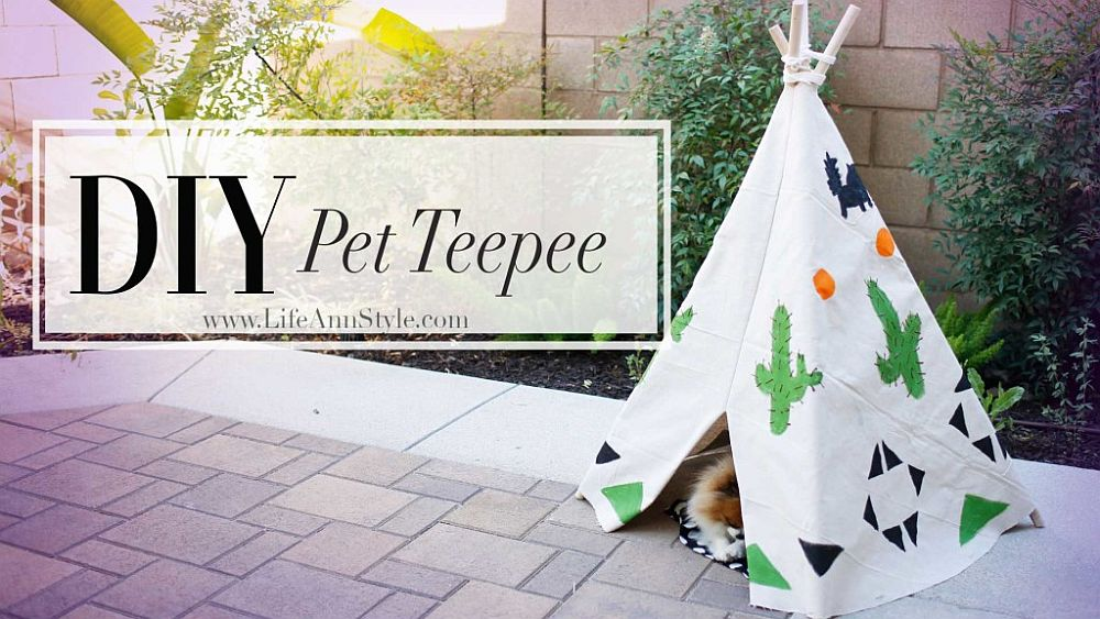 DIY pet teepee serves you in more ways than one