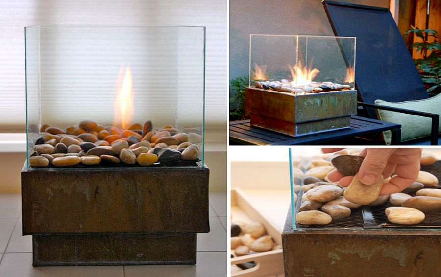 View in gallery DIY portable fire ... - 10 DIY Fire Pits That Are Affordable And Relatively Easy To Build