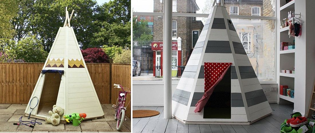 DIY wooden teepee tent for kids