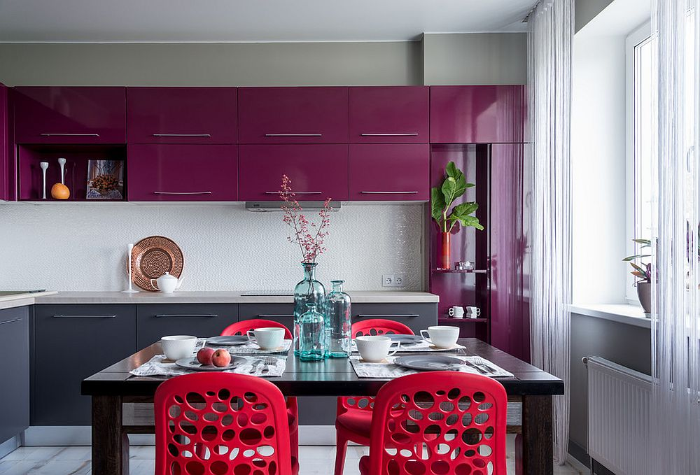 Finding shades of violet that venture into purple for the contemporary kitchen