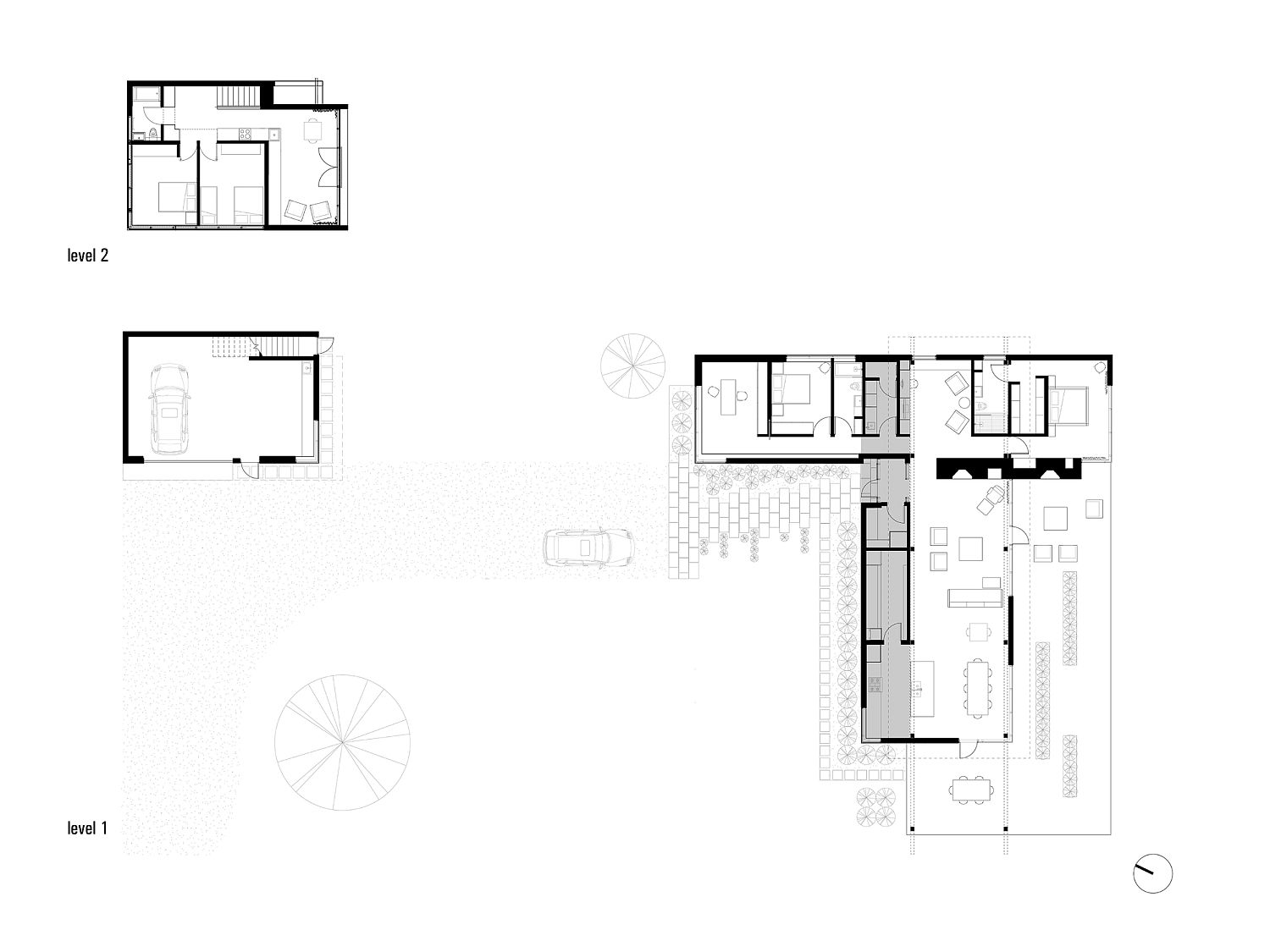 Floor plan of multi-functional modern home in Scotch Cove with ocean views