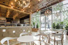 Original Bakery in China with a Modern-Industrial, Multi-Level Design