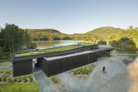 Overlooking Lakes, Mountains and a Forest: Center with Smart Green Roof