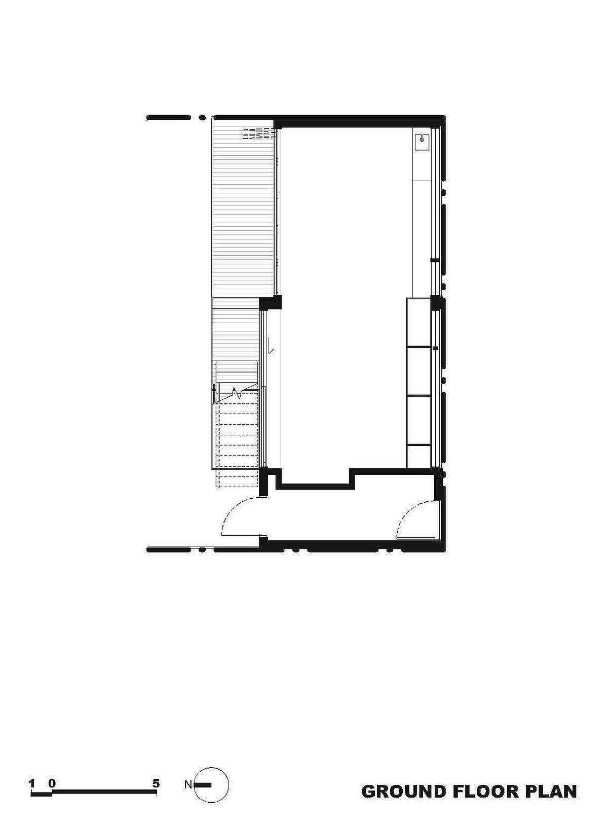 Ground floor plan of new addition to suburban home in Melbourne