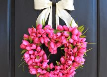 Heart-shaped-Valentines-Day-wreath-made-from-gorgeous-pink-tulips-217x155