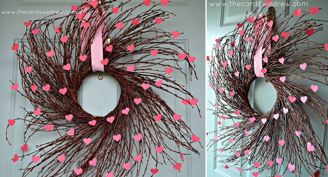 Heart willow Valentine's Day wreath