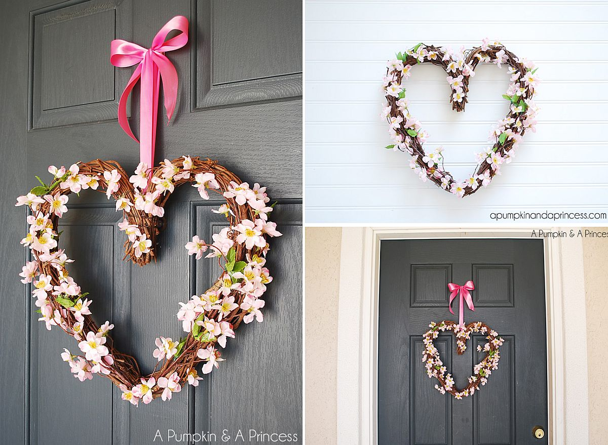 Heart grapevine wreath DIY
