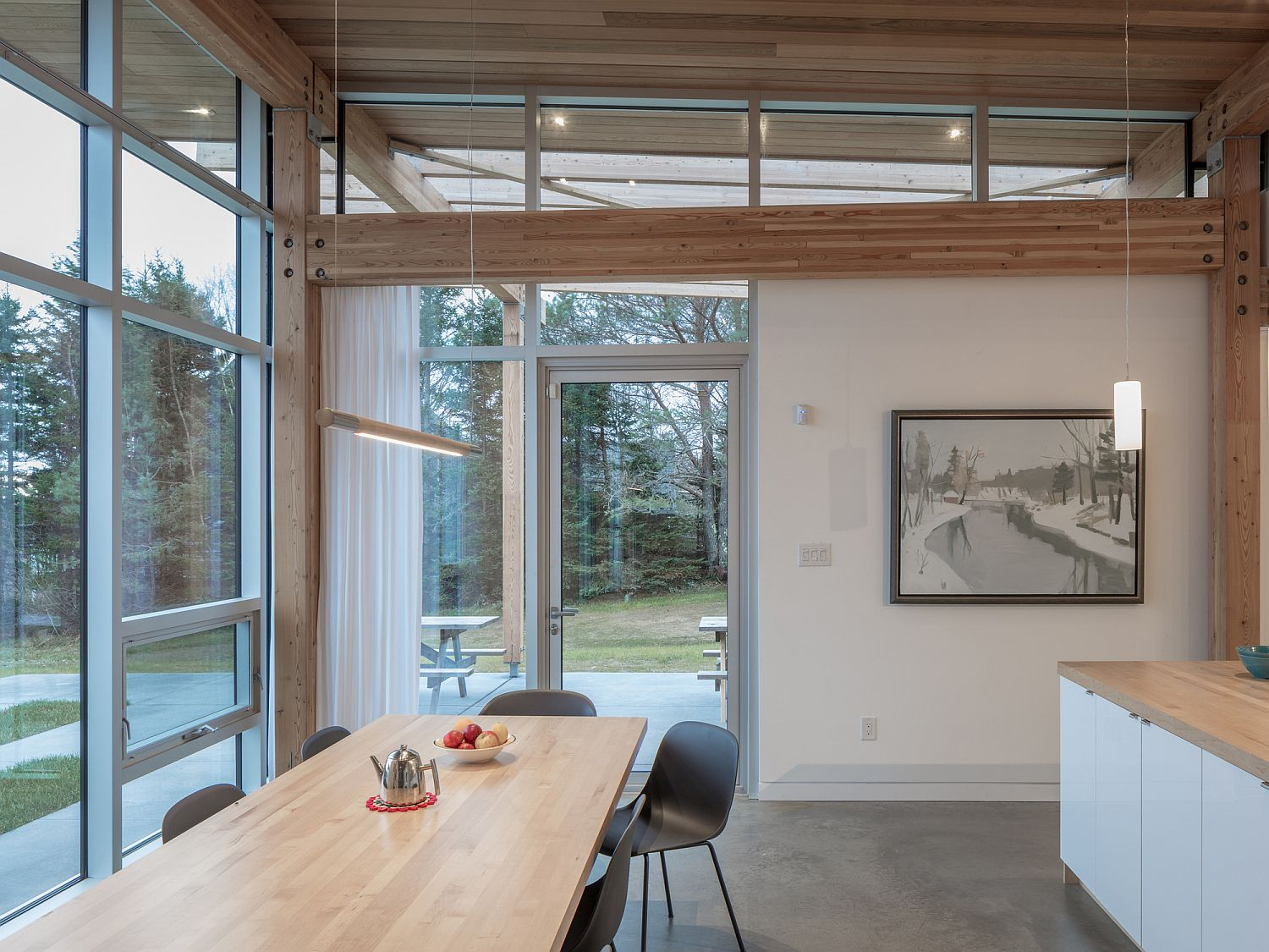 Kitchen and dining area of House in Scotch Cove