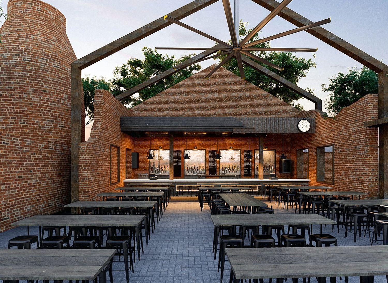 La Ruina Park Bar in Sonora, Mexico