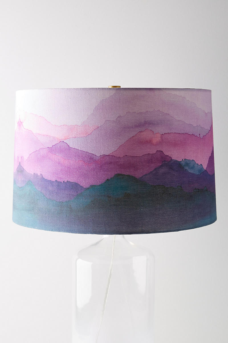 Lamp-shade-featuring-shades-of-violet