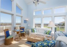 lovely beach house living room | 15 Gorgeous Beach Style Living Rooms with a Dash of Woodsy ...