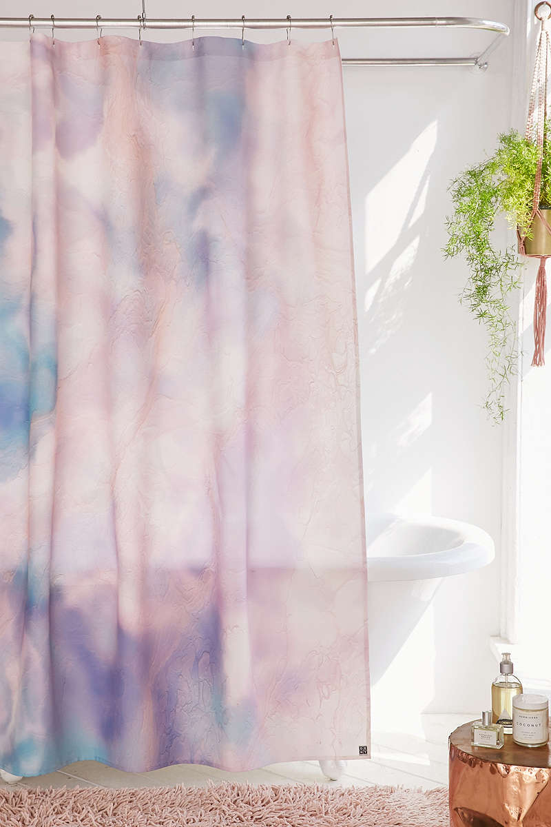 Marbled-violet-shower-curtain