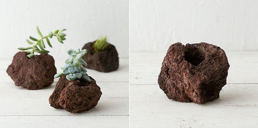 Mini-lava-rock-planter-idea
