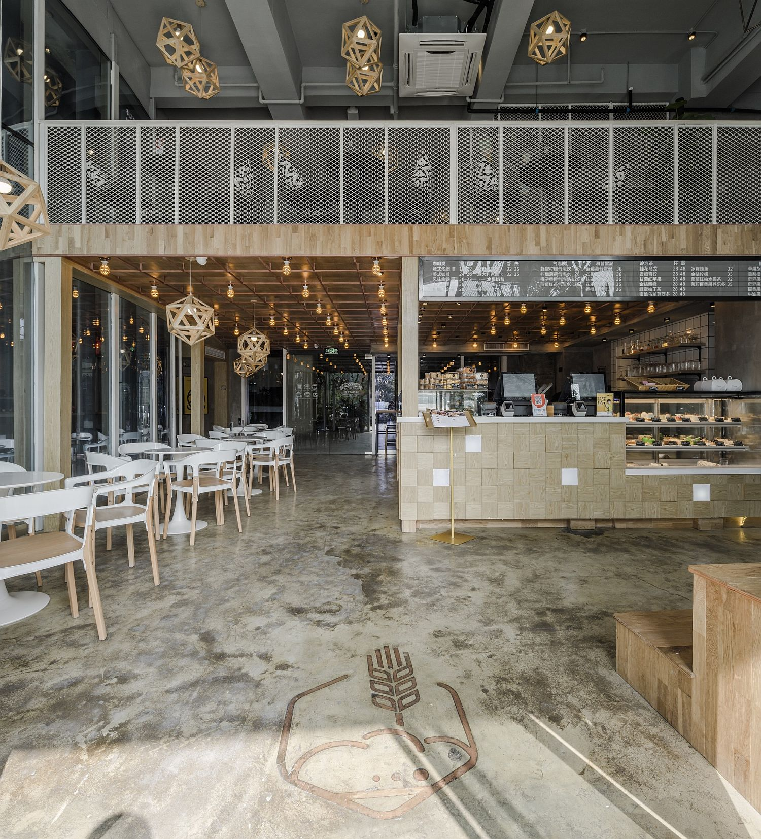 Multi-level-restaurant-in-China-with-a-modern-industrial-style