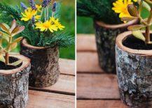 Natural-wood-log-planters-DIY-217x155