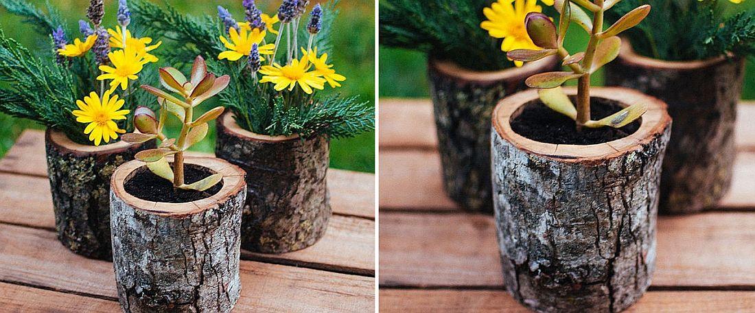 Natural-wood-log-planters-DIY