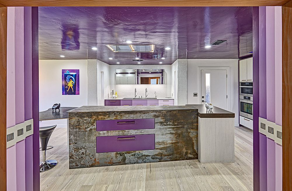 Purple rain tribute kitchen perfectly embraces Pantone Color of the Year