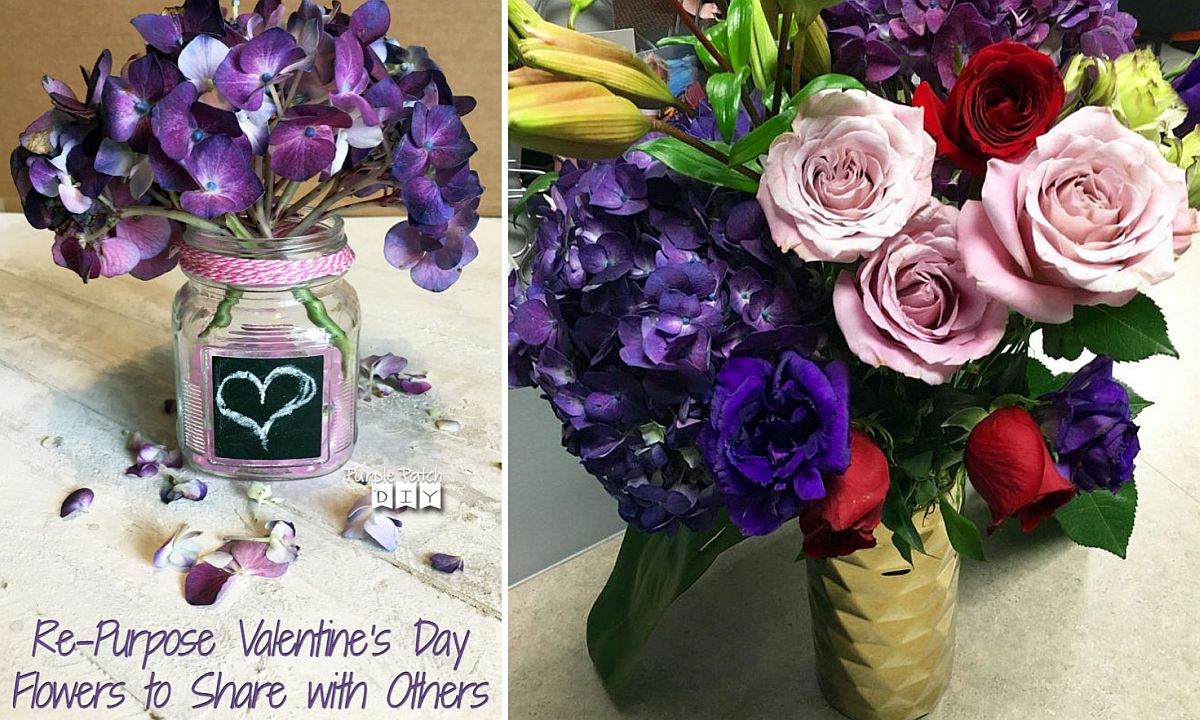Re-purposed flowers bring a dash of purple to your home