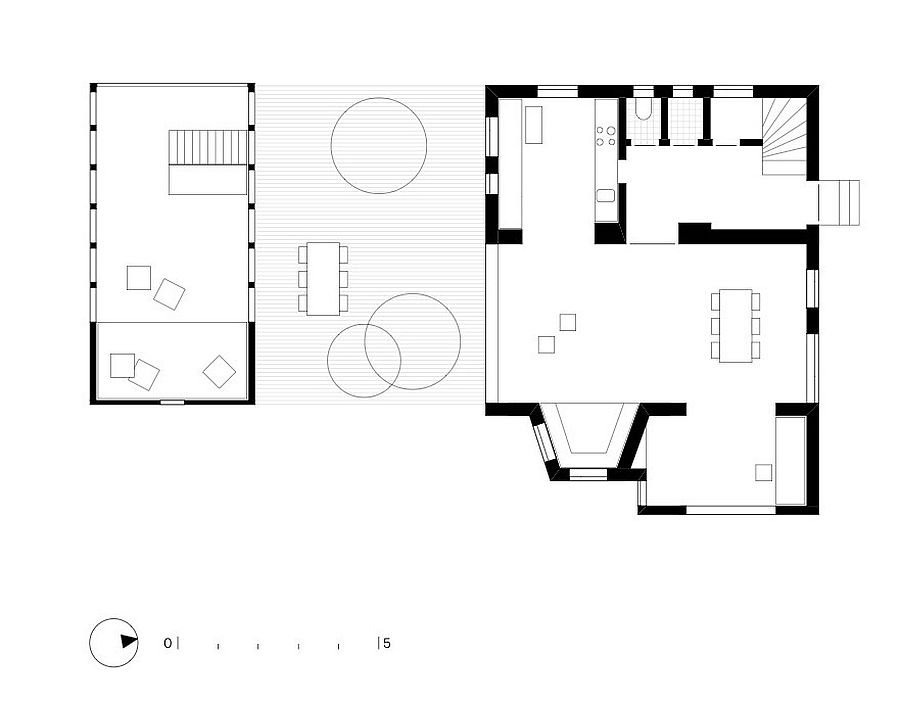 Revamped floor plan of The Enchanted Shed & Leopold House