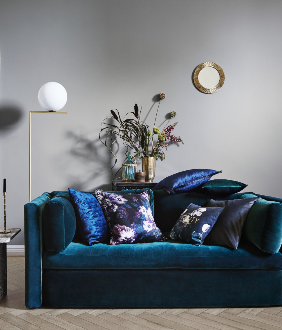 Rich blues and foral patterns from H&M Home