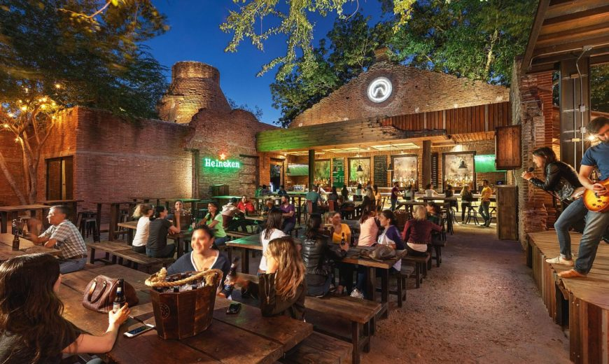 Ruins of an Old Textile Factory Turned into a Magical Bar and Hangout