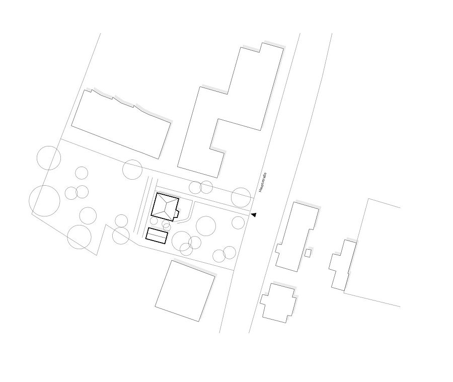 Site plan of The Enchanted Shed & Leopold House