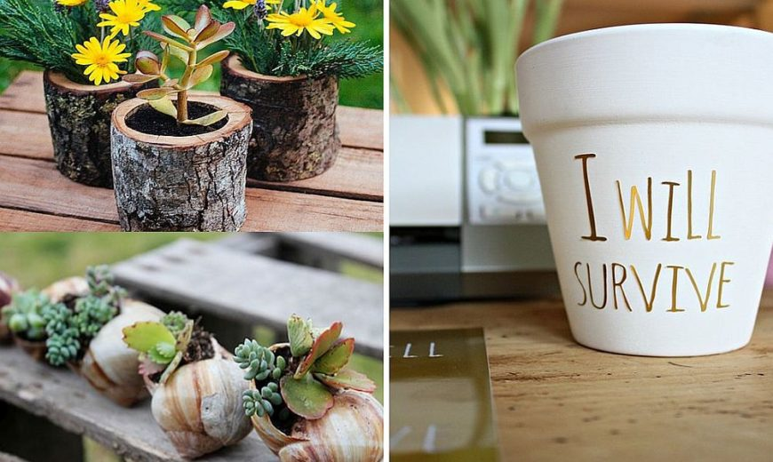 10 DIY Tiny Planters that Bring Green Goodness to Your Office