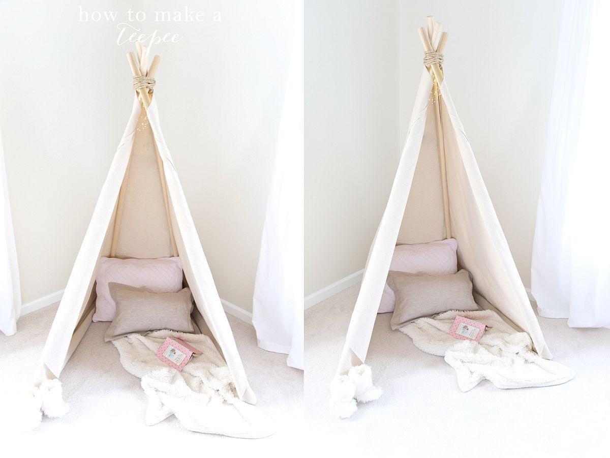 Small DIY teepee idea