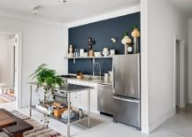 Small-contemporary-kitchen-with-stainless-steel-island-217x155