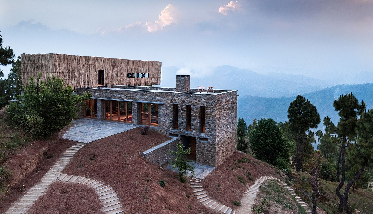 Stunning hillside hotel in Indian Himalayas with a view of India's second tallest mountain