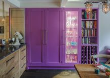 Violet-cabinetry-in-the-kitchen-along-with-wine-rack-steals-the-spotlight-here-217x155
