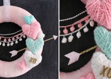 Yarn-wrapped-hearts-create-a-colorful-and-chic-wreath-217x155