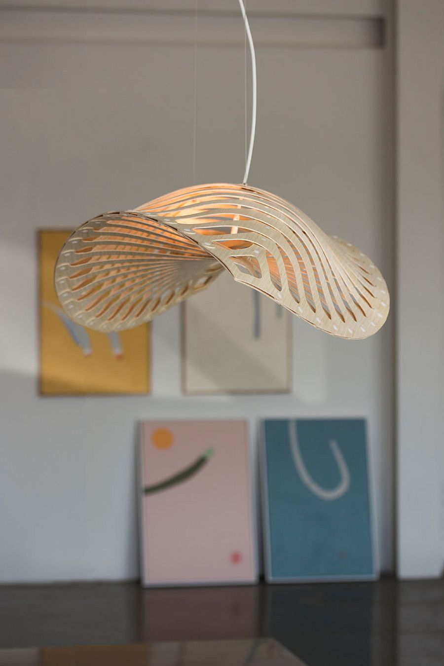 Bamboo-plywood-pendant-inspired-by-invisible-ocean-creatures