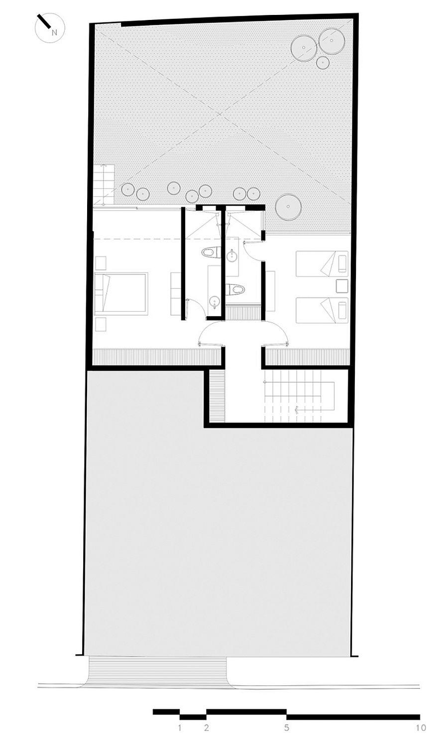 Basement floor plan of Casa Milan