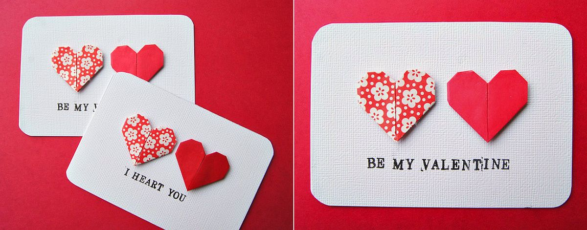 Be my Valnetine and I Heart You DIY Valentine's Day Cards