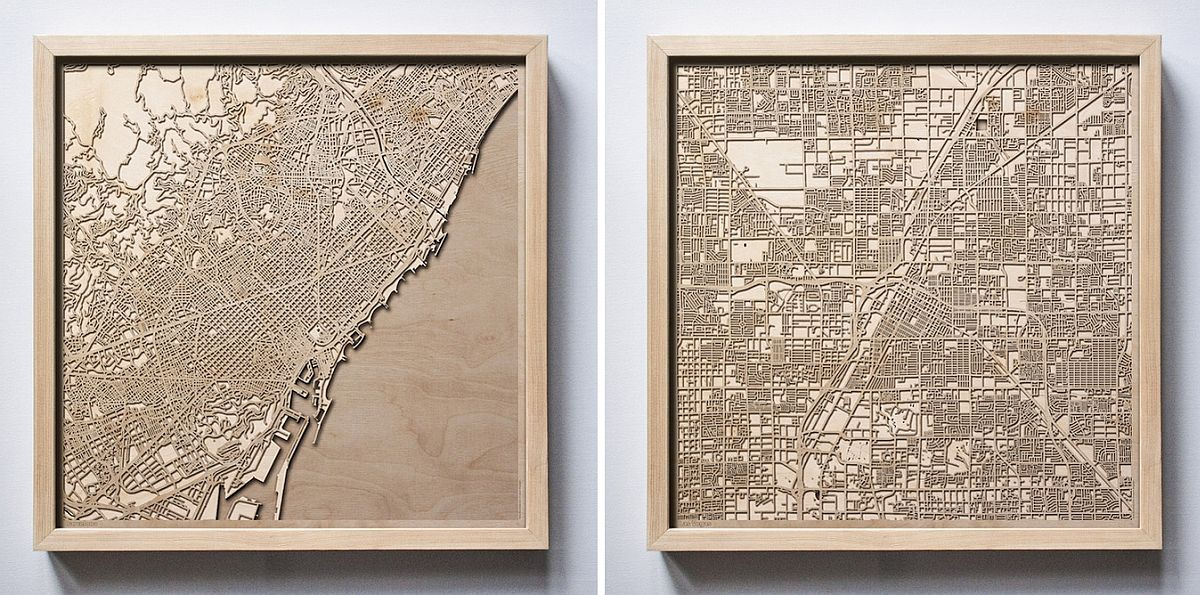 Choose a city that you love and turn it into wall art!