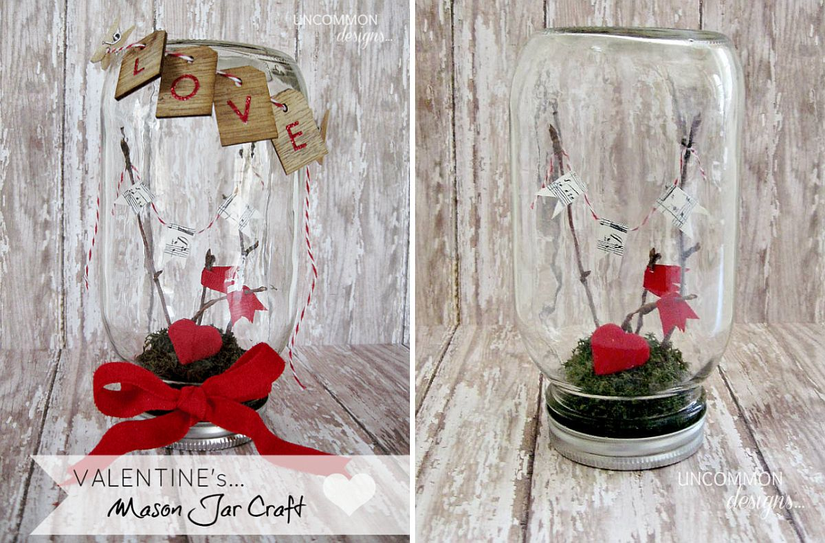 Classy and elegant Valentine's Day mason jar craft