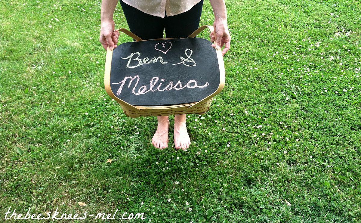 DIY Chalkboard Picnic Basket Idea