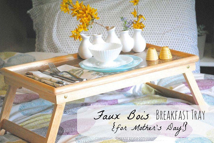 DIY Faux Bois Breakfast Tray