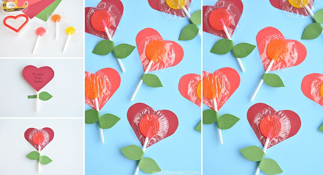 DIY Lolly Pop Heart Flowers
