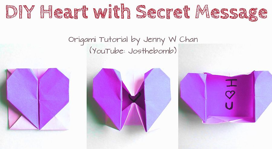 DIY-Origami-Heart-Box-Envelope-with-Secret-Message