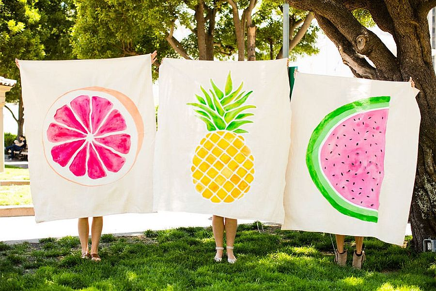 DIY Picnic Blankets made Out of Drop Cloths