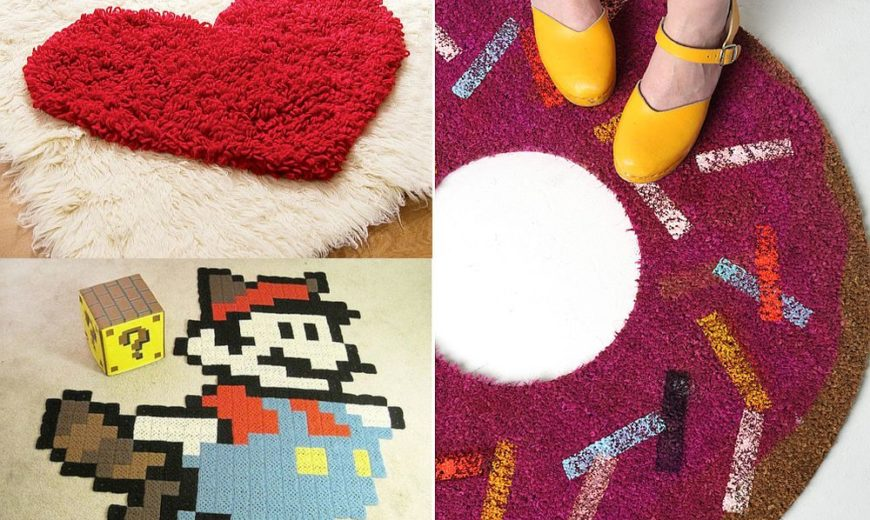 10 Colorful and Creative DIY Rugs and Mats to Brighten Your Home