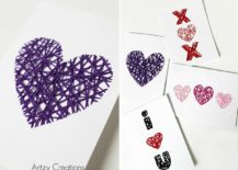 DIY-String-Art-in-Purple-for-Valentines-Day-217x155